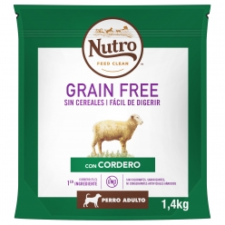 NUTRO PERRO GRAIN FREE ADULT MED